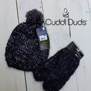 NWT Cuddl Duds hat and mittens bundle